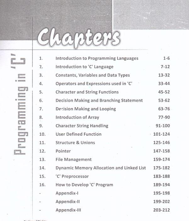 Learn Programming in C In Gujarati